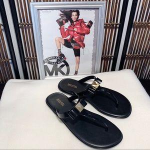 Michael Kors Brand Caroline Jelly PVC Thong—size 7